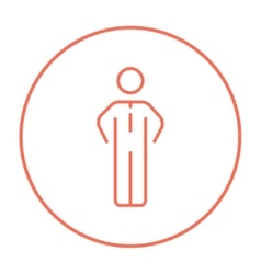 Businessman standing line icon vector