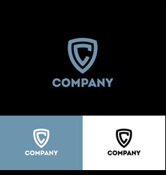 c monogram shield company logo letter system vector image
