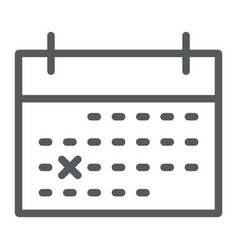 calendar line icon office and work list sign vector image