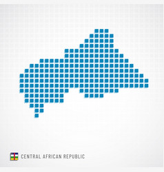 central african republic map and flag icon vector image