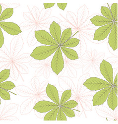 chestnut leaf seamless pattern vector image