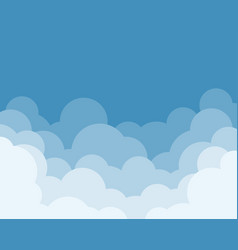 cloud with sky design vector image