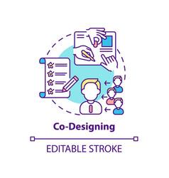 Co-designing concept icon vector