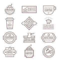 Coffee monogram icon vector