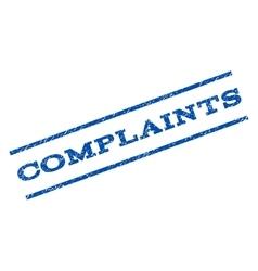 Complaints watermark stamp vector
