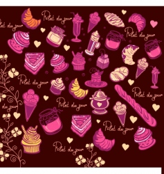 Culinary pattern vector