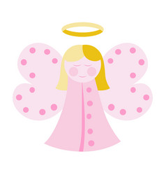 Cute angel in pink vector