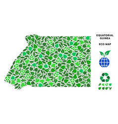 eco green collage equatorial guinea map vector image