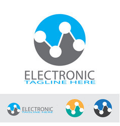 electronic and technology logo design vector image