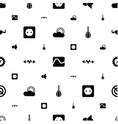 Energy icons pattern seamless white background vector