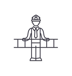 engineering solution line icon concept vector image