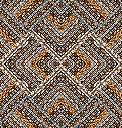 Ethno patchwork design vector