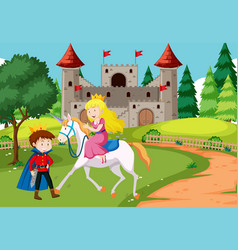Fantasy fairy tale scene vector