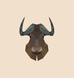 geometric head of a bison vector image