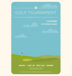 golf tournament invite poster vector image
