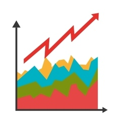 Growth graphic statistics colorful icons isolated vector image