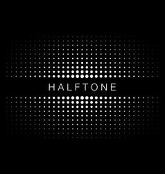 halftone gradient texture frame background vector image