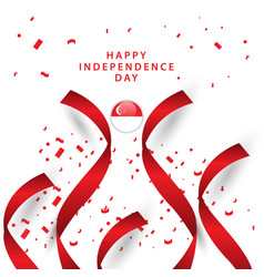 Happy singapore independent day template design vector