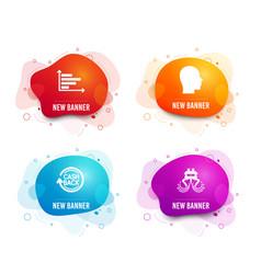 head horizontal chart and cashback icons ship vector image