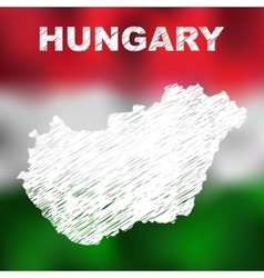 Hungarian Abstract Map vector image