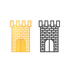 icons castle towers vector image