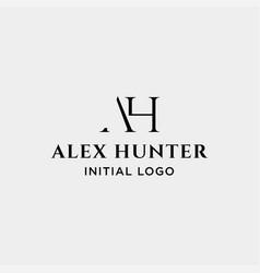Initial ah logo design monogram identity icon vector