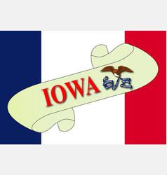 Iowa scroll vector