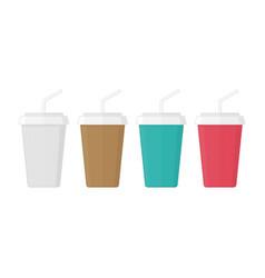 Juice and soda icon vector