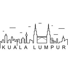 kuala lumpur outline icon can be used for web vector image