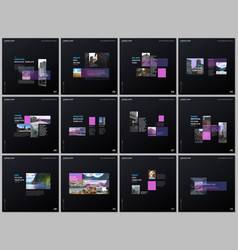 minimal brochure templates with pink color vector image