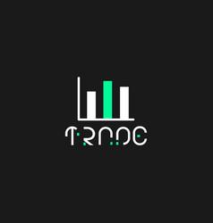 Minimalist logo trade vector