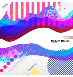 modern abstract pop art collage in and place for vector image