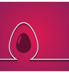 modern easter element design vector image