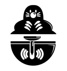 mole icon simple black style vector image