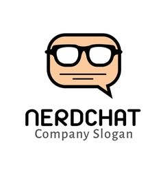 Nerd Chat Design vector image