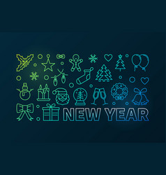 new year colored or banner in vector image