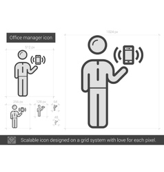 Office manager line icon vector