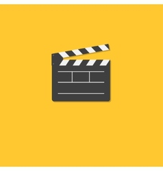 Open movie clapper board template icon Flat design vector