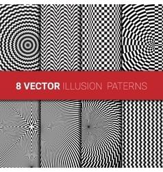Optical backgrounds set vector image