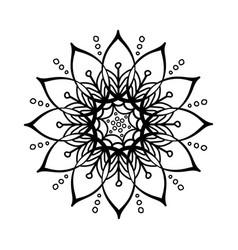 oriental silhouette ornament vector image