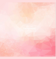 pink background with dots and lines modern vector image