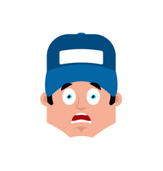 plumber scared emotion avatar fitter fear emoji vector image