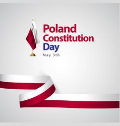 Poland constitution day flag template design vector