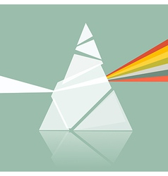 Prism Spectrum on Retro Background vector image