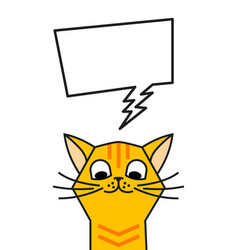 Redhead cat meme with speech bubble chat box vector