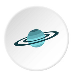 Saturn icon circle vector
