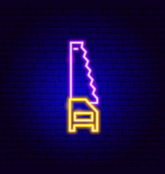 saw neon sign vector image