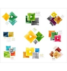 set square web boxes vector image