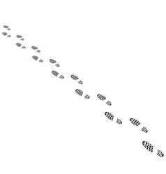 shoes tracks line vector image