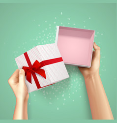 small gift package composition vector image